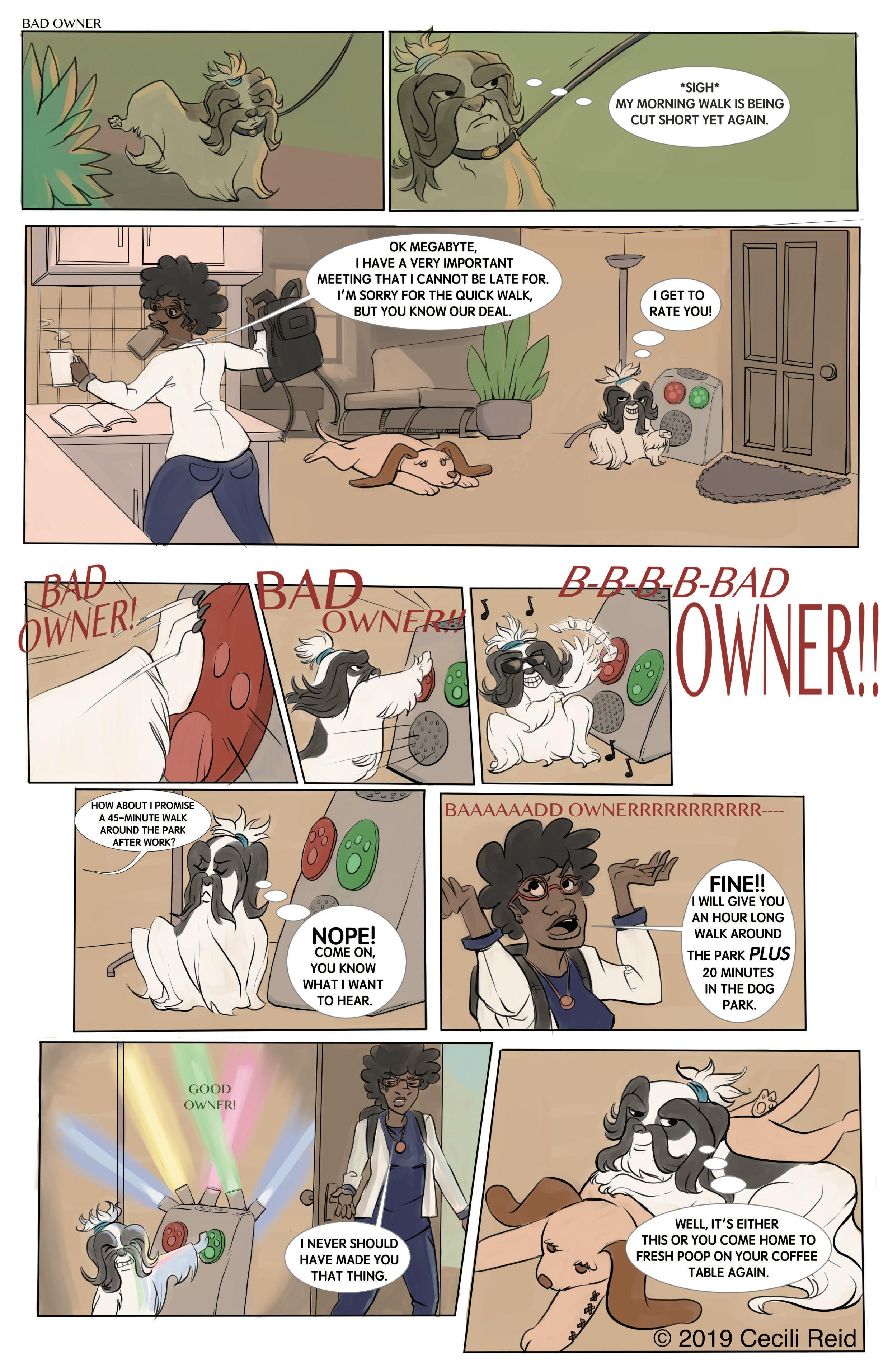 Megabyte The Doggie Butler: Bad Owner!